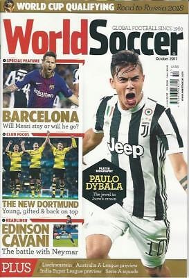 WORLD SOCCER- October 2017 issue (NEW) *Post included to UK/Europe/USA/Canada