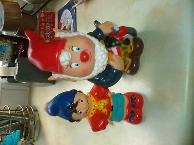 Two Sweet Rubber Squeeky Noddy And Big Ears Figures By Darrell Walters.