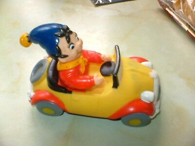 LOVELY LITTLE RUBBER NODDY CAR 5ins LONG BY 3ins WIDE AND 3ins TALL.