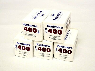 5 PACK - Kentmere (By Ilford) 400 135/36 Black and White Film