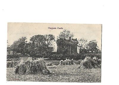 Old Postcard Claypots Castle Dundee Scotland Harvesting Pm 1904