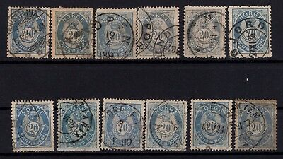 P44048 / Norvege / Norway / Sg # 87 X 12 Obl / Used 100 €