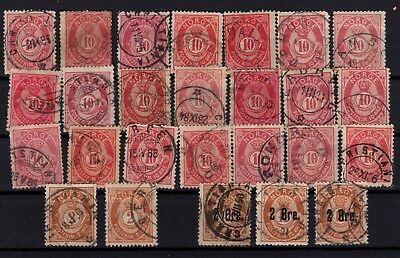 P44052 / Norvege / Norway / Lot 1877 / 1888 Obl / Used 90 €