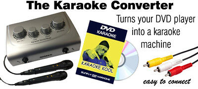Convert Your Dvd Player To A Karaoke Machine - Standard Rca - 2 Mics - Free Dvd