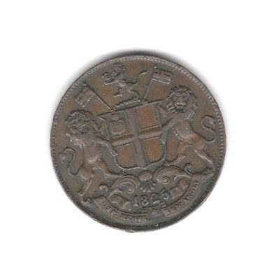 India Madras Presidency 2 Pies coin AH 1240/AD 1825 Fine (30)