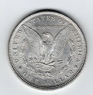 USA 900 fine Silver Morgan Dollar1896, Brilliant Uncirculated (42)