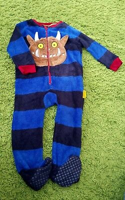 Gruffalo fleece blue black striped TU 1 1/2 - 2 years sleep suit