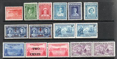 Newfoundland  1938 to 47 issues mint