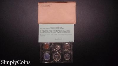 1958 Proof Set ~ Original Envelope With COA ~ US Mint Silver Coin Lot SKU-607