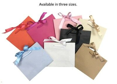 Natural Or Cream Landscape Boutique Shop Ribbon Gift Bags Rope Handle Events Bag