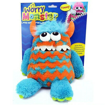 "Kids Plush 9"" Worry Monster Teddy - Eats Childrens Worries Psychologist Approved"