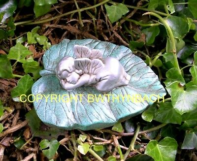 New Rubber Latex Mould Moulds Mold Fairy Fairie On Leaf Sleeping 1