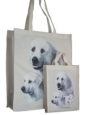 Pyrenees Dog Adult & Child Dog Treats Packed Lunch etc Cotton Tote Shopping Bag