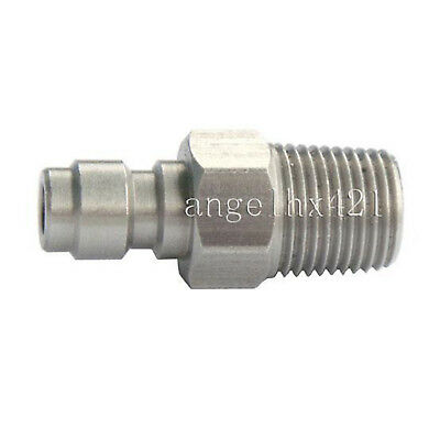 "Stainless Steel Male Quick Disconnect Adaptor 1/8"" NPT"
