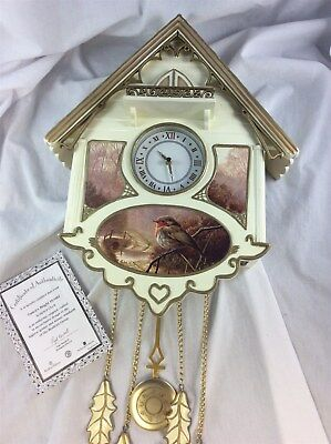 Bradford Exchange Editions Dawn's Bright Herald Cuckoo Clock Robin