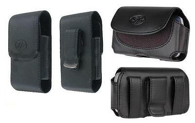 2x Belt Holster Pouch w Clip for Samsung GALAXY S5 (FITS with Hard Plastic Case)