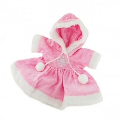 """Pink Snow Dress with Hood Teddy Bear Clothes to fit 8""""-10"""" bears"""
