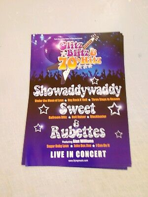 Glitz blitz & 70s hits a5 flyer the sweet showaddywaddy the rubettes excellent