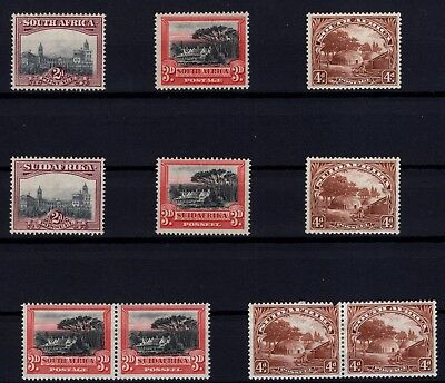 P38660/ South Africa / Y&t # 24 / 26 – 31 / 33 + Pairs # 25-32 - 26-33 Mh 111 €