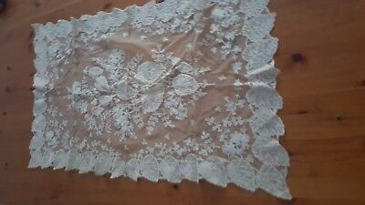 Antique Lace Table Runner Tablecloth With Leaf Deco  80Cm X 50Cm