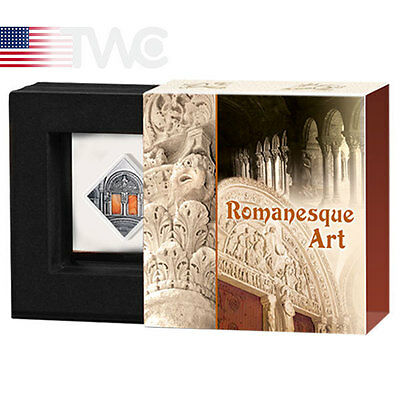 Niue 2014 1$ ROMANESQUE Art that Changed the World Antique finish Silver Coin