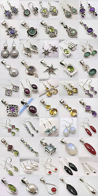 Wholesale Lot! 925 Solid Silver Earrings Pendants Sets!
