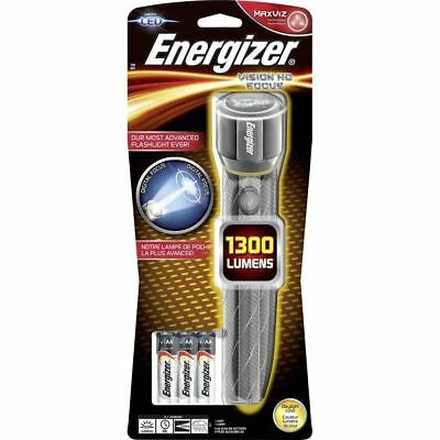Energizer Vision HD Focus 1300 Lumens Metal Handheld Torch 3 x AA Included
