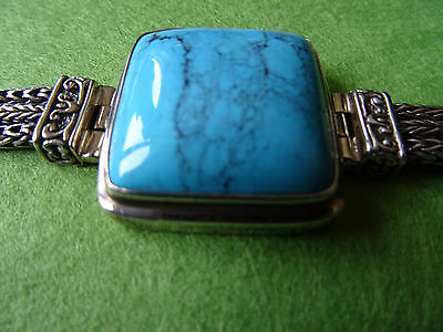 Sterling Silver 925 Turquoise Mexico Bracelet