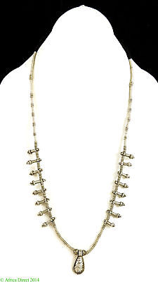 Ethiopian Necklace Silver Phallic Pendants African