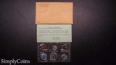 1959 Proof Set ~ Original Envelope With COA ~ US Mint Silver Coin Lot SKU-571