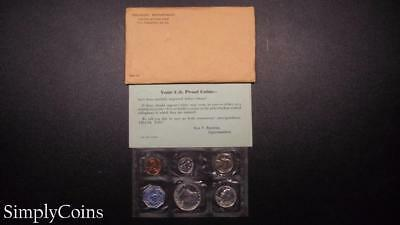 1959 Proof Set ~ Original Envelope With COA ~ US Mint Silver Coin Lot SKU-566
