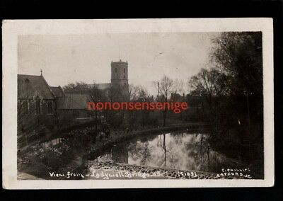 LONDON LADYWELL BRIDGE VIEW FROM S Phillips Catford REAL PHOTO POSTCARD 1914 -57
