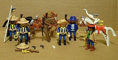PLAYMOBIL  5th CAVALRY SET 3811 COMPLETE -  NO BOX -SCARCE !!