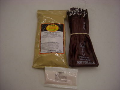 Venison Summer Sausage Kit Make 25 Lb Includes Seasoning, Mahogany Casings, Cure