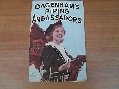 DAGENHAM GIRL PIPERS - 28 page souvenir guide from 1950's or 60's