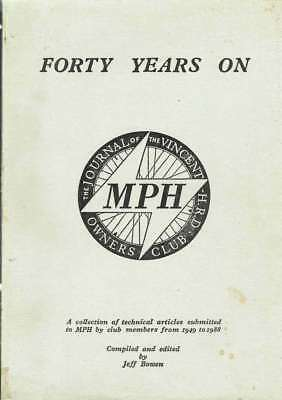 Vincent/hrd 'forty Years On' - Rare Compilation Of 1949-88 Technical Articles