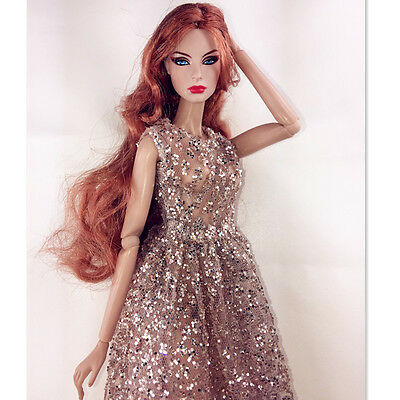 bronzing evening outfit dress for fashion royalty silkstone barbie IT dolls 3