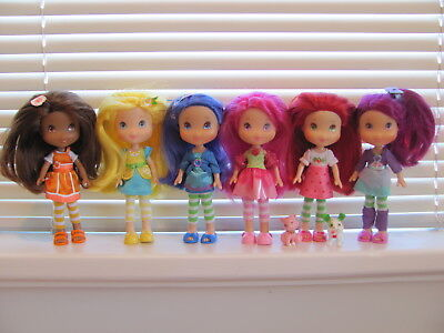 Strawberry Shortcake lot ~ 2009 Hasbro Berry Best Collection & Raspberry NICE!