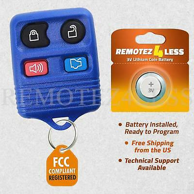 Remote for 2005 2006 2007 2008 2009 2010 2011 2012 2013 2014 Ford Mustang Blue