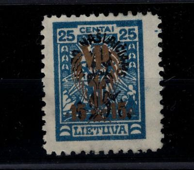 P35513 / Lituanie / Lithuania / Michel # 263 X Neuf (*) / Unused 150 €
