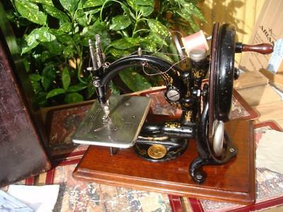 Old Vintage Antique Chain Stitch Sewing Machine Wilcox Willcox & Gibbs SEE VIDEO