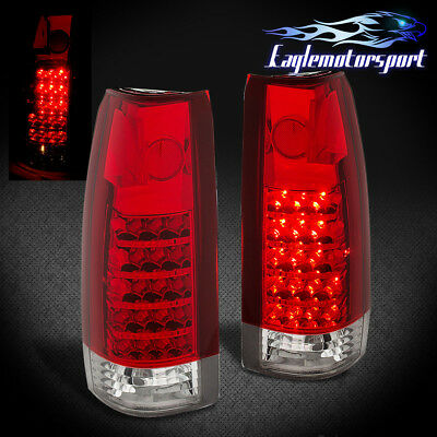 1988-1998 Chevy/GMC C/K 1500 2500 3500 Truck LED Red Brake Tail Lights Pair
