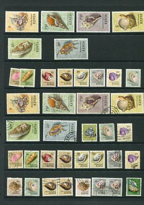 KENYA M&U COLLECTION SHELLS BUTTERFLIES etc 315 Stamps