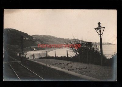 IRELAND Co Dublin KILLINEY & BALLYBRACK RAILWAY STATION INTERIOR RP PC 1905 - 28