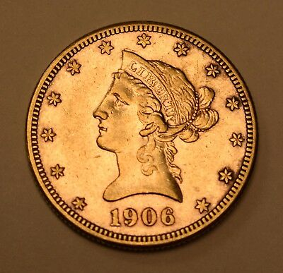 ( 1 ) 1906-S  $10 Liberty Head Gold Coin - Lot# G-38