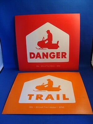 Vintage Pair Of Snowmobile Trail Markers