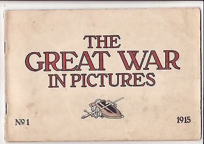 "1915 Wwi ""the Great War In Pictures"" No. 1 Booklet Published In Berlin 48 Pages"