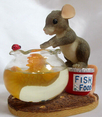 """Mouse Charming Tails Figurine Fitz & Floyd """"You're Friendship Is Golden"""" NIB"""