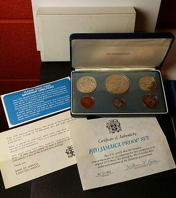 1970 Jamaica Proof Set of Coins
