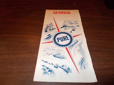 1967 Pure Oil Georgia Vintage Road Map